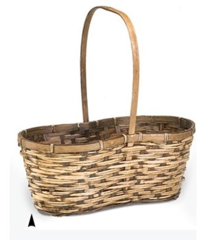 29/2675 STAINED 2-POT BASKET W/LINER CS. PK.: 60