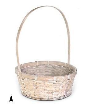 "29/2680WW 10.5"" ROUND WHITE WASH BASKET W/LINER CS. PK.: 60"