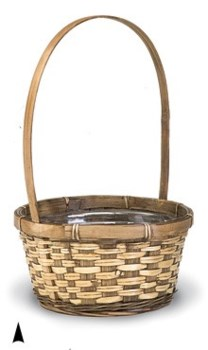 "29/2681B 8.5"" ROUND STAINED BASKET W/LINER CS. PK.: 72"