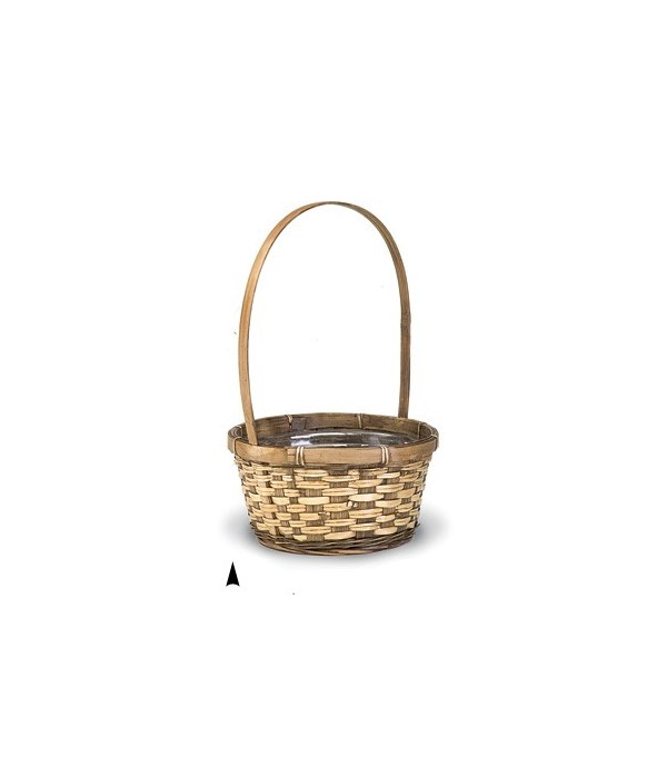 29/2681B 8.5 ROUND STAINED BASKET W/LINER CS. PK.: 72