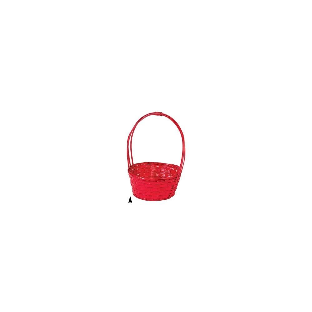 29/31033R RED BAMBOO BASKET W/LINER CS. PK.: 60