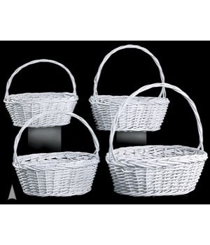 29/3444W S/4 WHITE OVAL BASKETS CS. PK.: 8