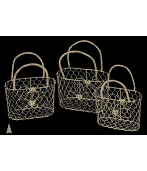 29/37 S/3 GOLD METAL PURSE BASKETS CS. PK.: 30