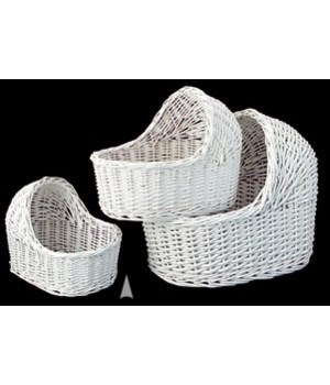 29/54LW S/3 WHITE JUMBO DOLL CRADLES CS. PK.: 6
