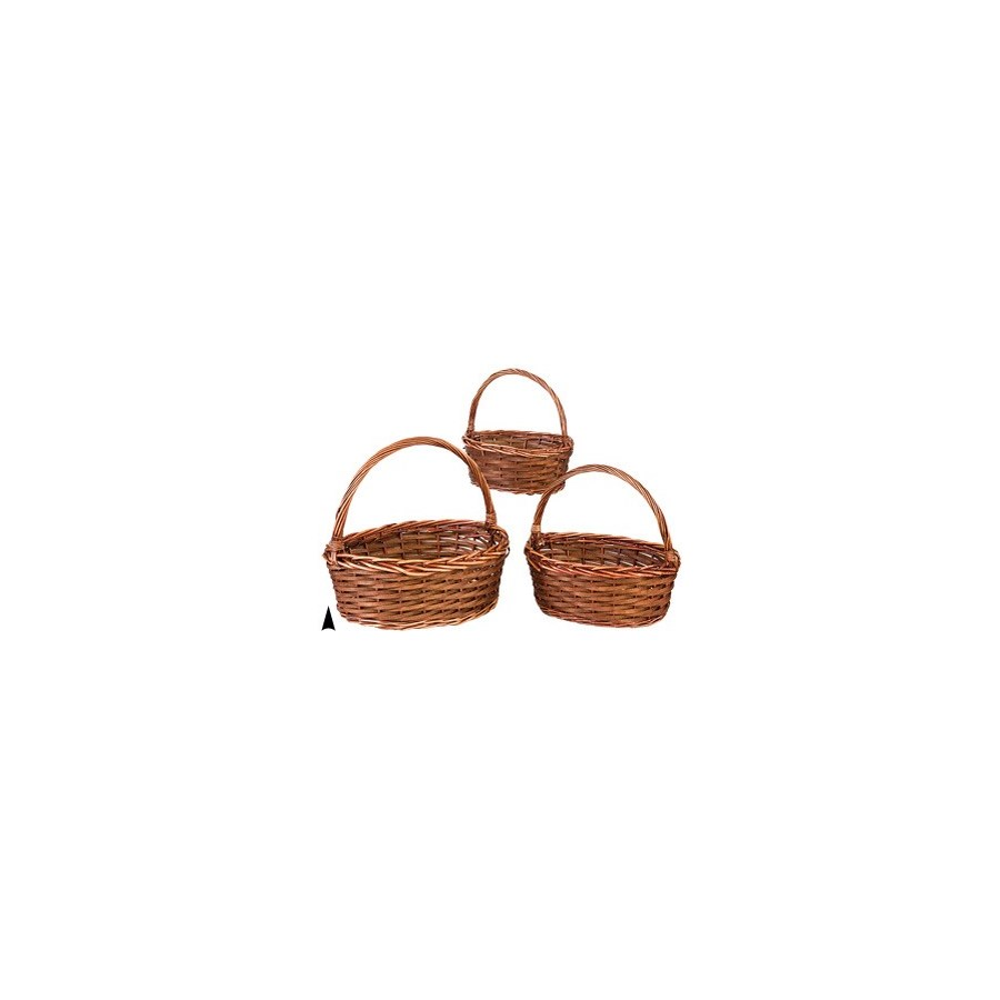 29/574 S/3 WOOD AND WILLOW OVAL BASKETS CS. PK.: 12