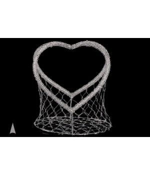 29/8831 WIRE MESH HEART BASKET CS. PK.: 24