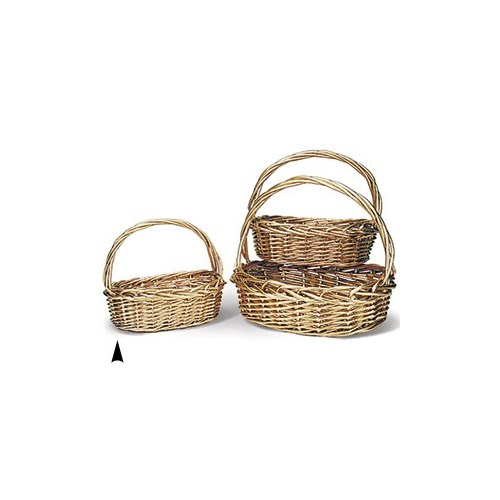 29/91195G S/3 GOLD OVAL WILLOW BASKETS CS. PK.: 8