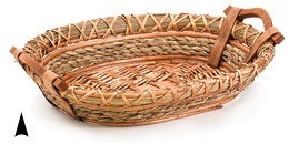 3/10-59 OBLONG WILLOW AND STRAW TRAY CS. PK.: 20