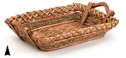 3/10-60 OBLONG WILLOW AND STRAW TRAY CS. PK.: 20
