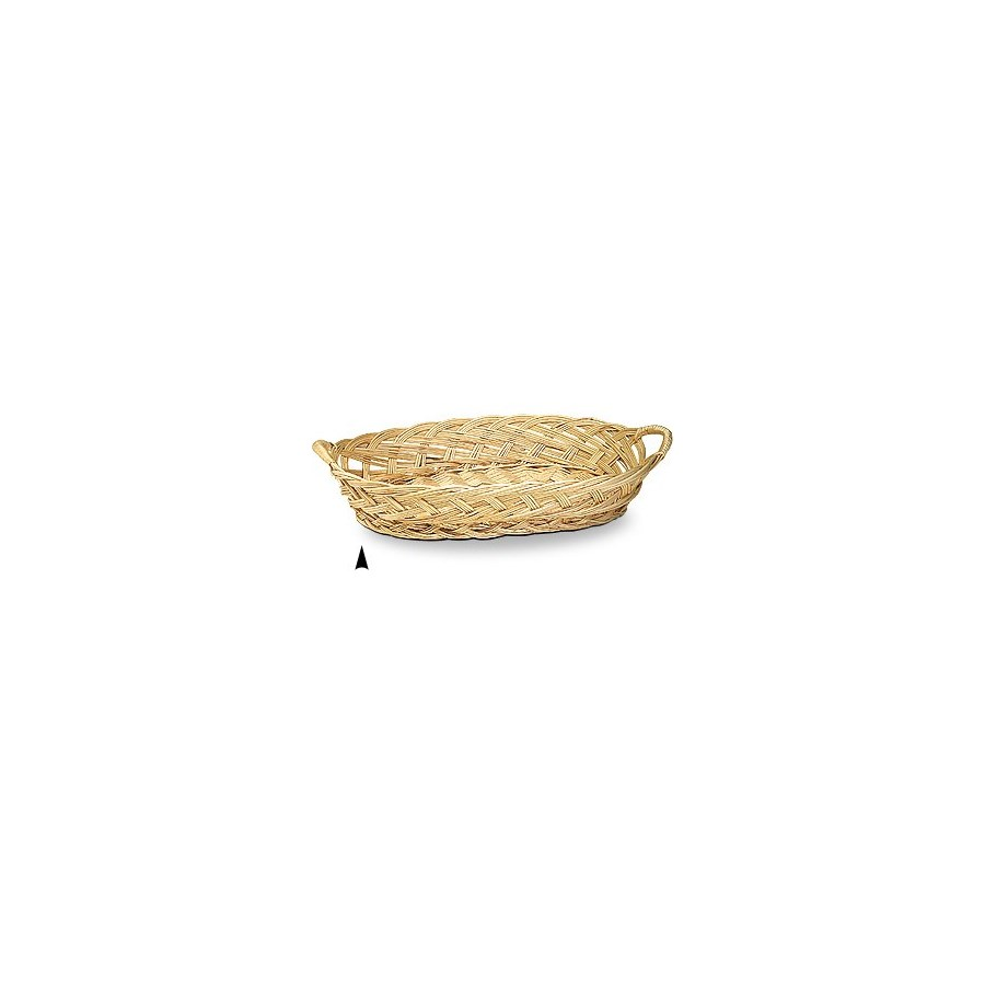 3/102-192 OVAL WILLOW TRAY WITH WILLOW HANDLE CS. PK.: 35
