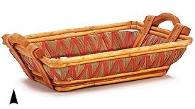3/107037 OBLONG WILLOW AND STRAW BASKET CS. PK.: 40