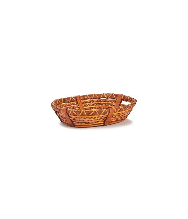 3/108018 OVAL WILLOW AND ROPE TRAY CS. PK.: 20