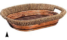 3/11-31 OVAL FANCY WILLOW & SEAGRASS TRAY CS. PK.: 20
