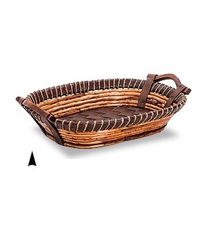 3/11-34 OVAL FANCY WILLOW & TWINE TRAY CS. PK.: 20