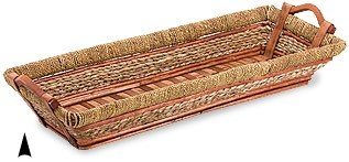 3/13-29 OBLONG WILLOW AND STRAW TRAY CS. PK.: 15