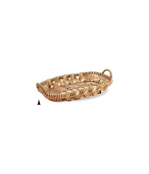 3/13-30 OVAL WILLOW AND STRAW TRAY CS. PK.: 15