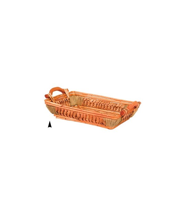 3/13-52 FANCY WILLOW AND STRAW TRAY CS. PK.: 30