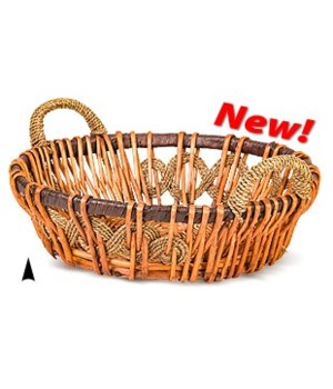 3/15-819 16 ROUND FANCY WILLOW BOWL CS. PK.:
