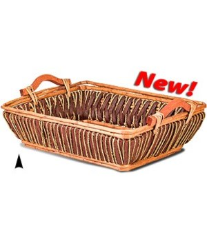 3/1520 OBLONG SEAGRASS WILLOW AND TWINE TRAY CS. PK.: