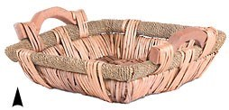 3/170 SQUARE WILLOW AND SEAGRASS TRAY CS. PK.: 30