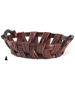 3/20309 OVAL STAINED WILLOW TRAY CS. PK.: 20