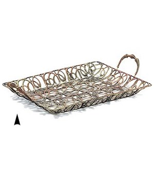 3/2068 OBLONG FANCY METAL TRAY CS. PK.: 24