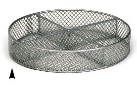 """3/241/10M 10 """"ROUND METAL TRAY W/4 SECTIONS CS.PK.: 40"""