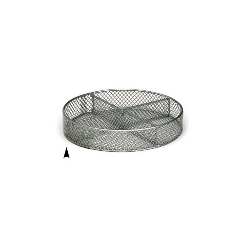 3/241/8M 8 ROUND METAL TRAY W/4 SECTIONS CS.PK.: 60