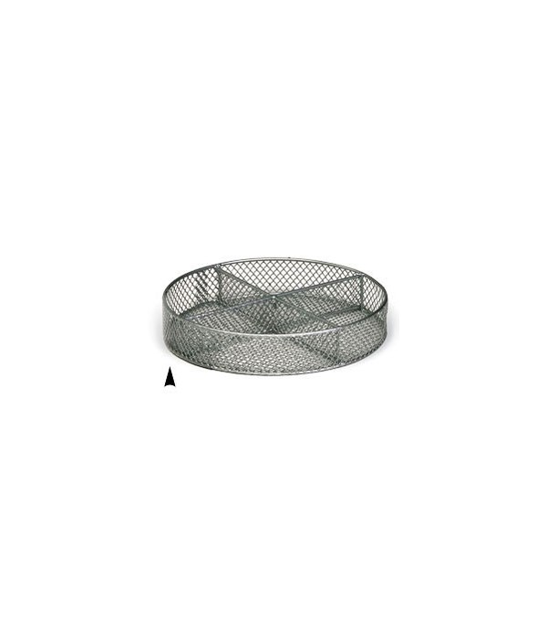 3/241/10M 10 ROUND METAL TRAY W/4 SECTIONS CS.PK.: 40