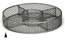 """3/242/10M 10"""" ROUND METAL TRAY W/5 SECTIONS CS. PK.: 40"""