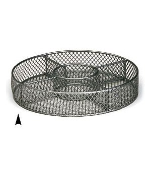 "3/242/10M 10"" ROUND METAL TRAY W/5 SECTIONS CS. PK.: 40"