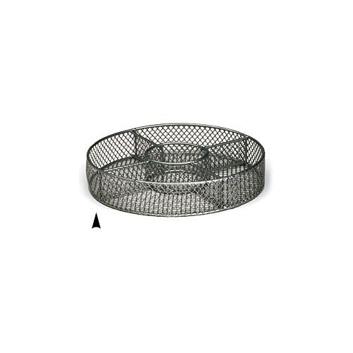 3/242/8M 8 ROUND METAL TRAY W/5 SECTIONS CS. PK.: 60