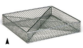 3/243/10M SQUARE SILVER METAL TRAY W/4 SECTIONS CS. PK.: 40