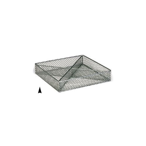 3/243/8M SQUARE SILVER METAL TRAY W/4 SECTIONS CS. PK.: 60