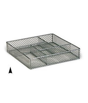 3/244/10M SQUARE METAL TRAY W/5 SECTIONS CS. PK.: 40