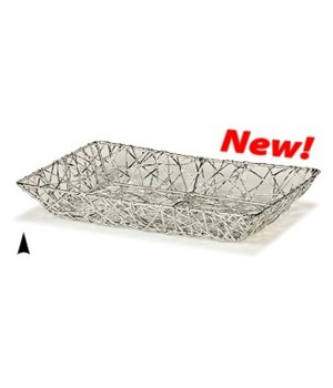 3/3224-4 OBLONG SILVER TRAY CS. PK.: