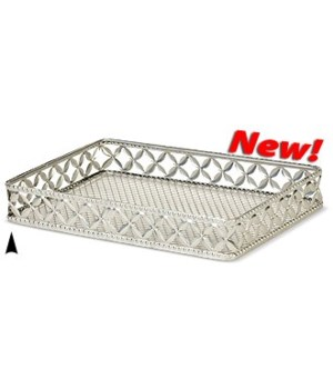 3/408/L OBLONG FANCY METAL TRAY CS. PK.: