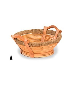 3/590 13 ROUND WILLOW TRAY W/BASE CS. PK.: 30