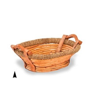 3/591 OVAL WILLOW TRAY W/BASE CS. PK.: 30