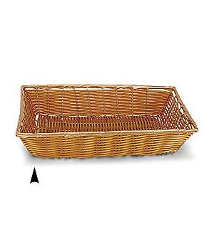 3/600/B OBLONG SYNTHETIC WICKER TRAY CS. PK.: 60