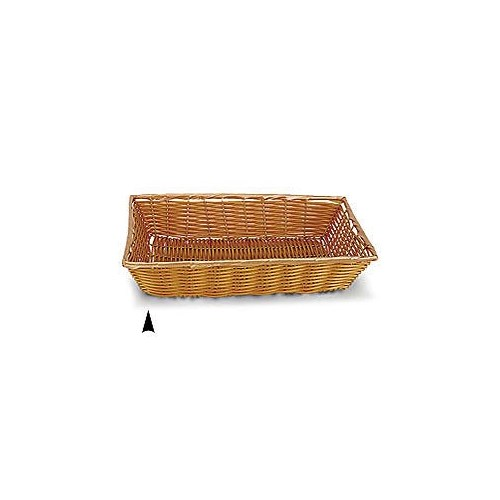 3/604/BK BLACK OBLONG SYNTHETIC WICKER TRAY CS. PK.: 30
