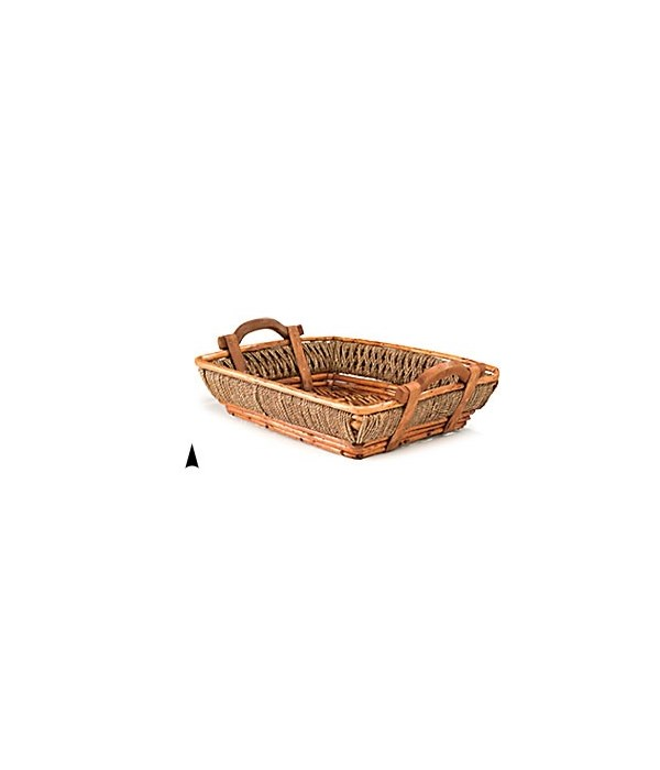 3/60014 OBLONG WILLOW AND SEAGRASS TRAY CS. PK.: 20