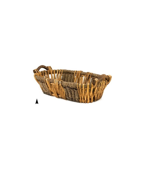 3/6069 OVAL WILLOW AND SEAGRASS BOWL CS. PK.: 20