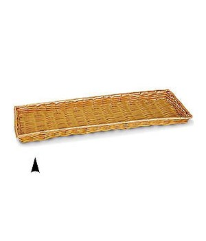 3/609/B SHALLOW OBLONG SYNTHETIC WICKER TRAY CS. PK.: 40