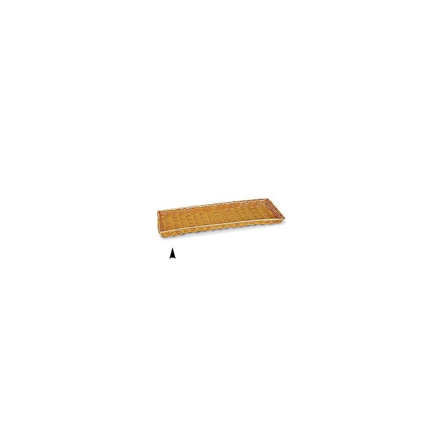 3/609/B SHALLOW OBLONG SYNTHETIC WICKER TRAY CS. PK.: 40