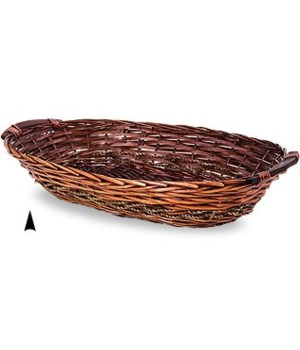 3/6330/M OVAL STAINED WILLOW TRAY CS. PK.: 40