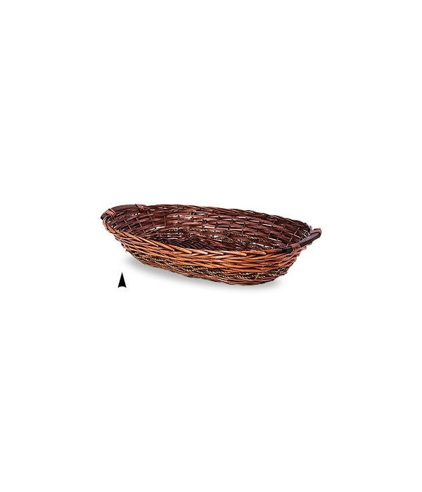 3/6330/L OVAL STAINED WILLOW TRAY CS. PK.: 30