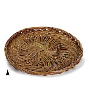"""3/679/10 10"""" ROUND FANCY COCO-MIDRIB TRAY CS. PK.: 100"""