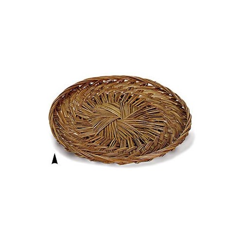 "3/679/14 14"" ROUND FANCY COCO-MIDRIB TRAY CS. PK.: 50"