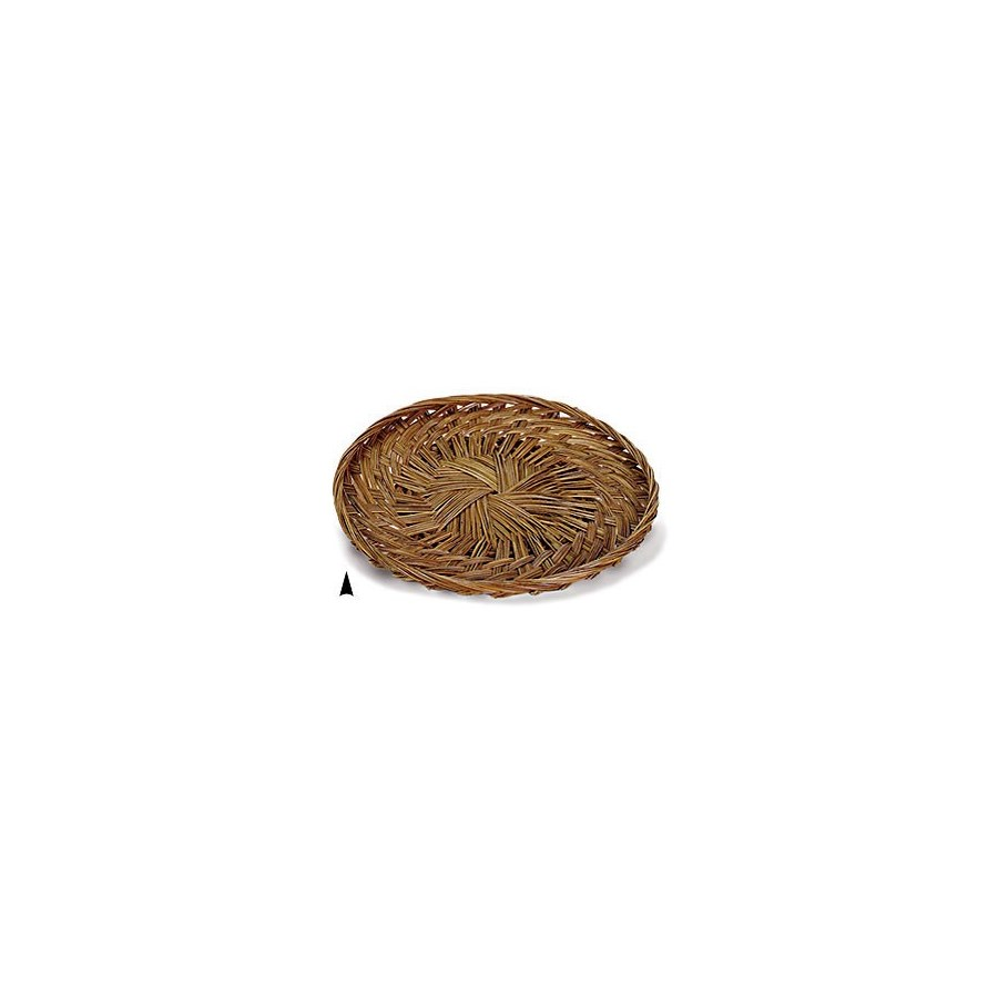 """3/679/14 14"""" ROUND FANCY COCO-MIDRIB TRAY CS. PK.: 50"""